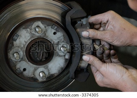 replacing the disc brake of a car