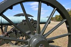 Replica of an old Civil War cannon at the Pea Ridge National Battlefield in Garfield, Arkansas.