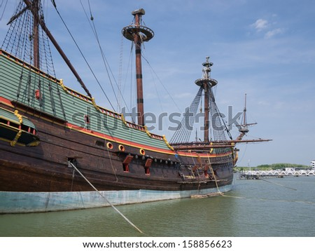 Replica of Batavia, Dutch East Indies Company historic cargo ship