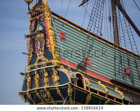 Replica of Batavia, the Dutch East Indies Company historic cargo ship