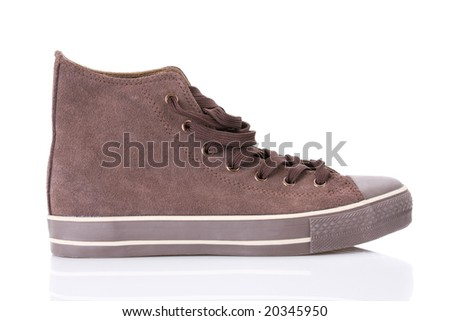 Replica of classic sneakers isolated on white