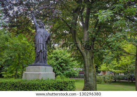 Replica of Statue of Liberty, Luxembourg Garden, Paris