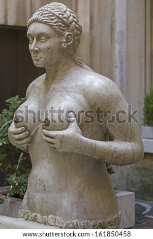 Replica of the Fontana delle Tette in Treviso  Stock fotó ©