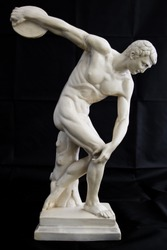 Replica of the Miron Discobolus sculpture. Part of a series.