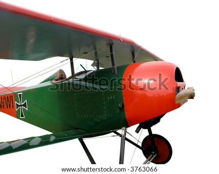 Replica Vintage Aircraft with Clipping Path