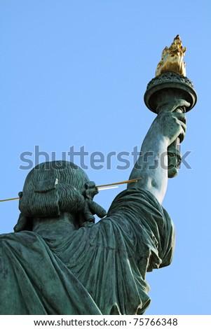 Replika of the Statue of Liberty in Odaiba, Tokyo.