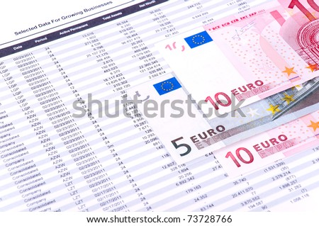 Report financial data with industry growth. European currency.