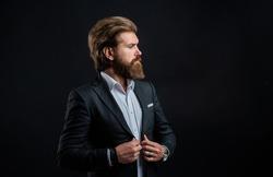 Representation modern successful man business career, clothes shop concept