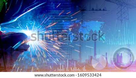 Representation of the robotic production of the future. Control of work parameters using the Internet of things. Successful automation of the welding process