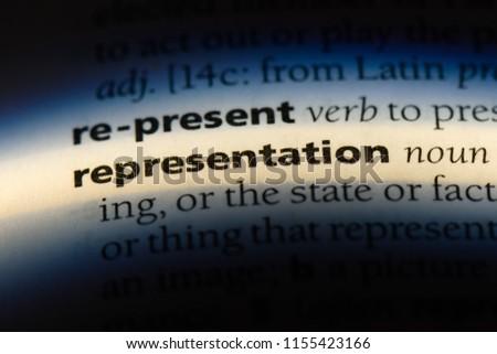 representation word in a dictionary. representation concept. Stock photo ©