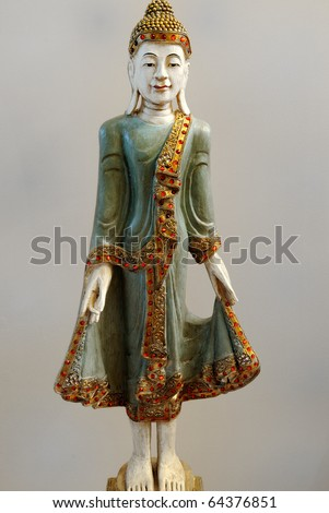 Reproduction Of A Cambodian Buddha Statue As Home Decor. Stock ...