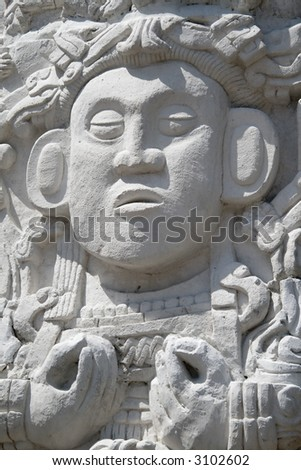 Reproduction of a Maya statue