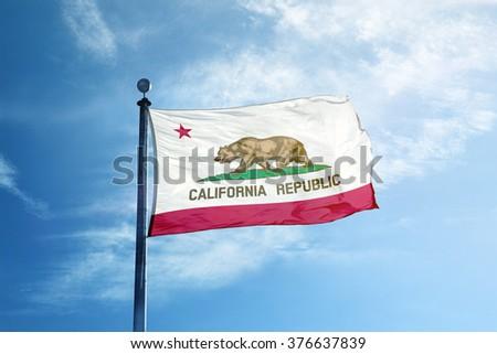Republic California flag on the mast #376637839