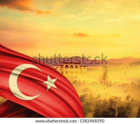 Republic day of Turkey. 29 Ekim Cumhuriyet Bayrami. October 29 Republic Day.