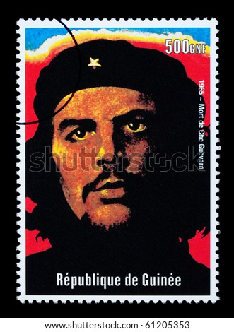 REPUBLIC OF GUINEA - CIRCA 2000: A postage stamp printed in Guinea showing Che Guevara, circa 2000