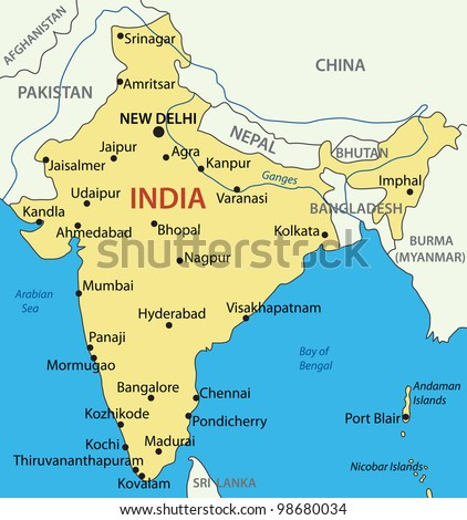 Republic of India -  map