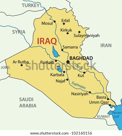 Republic of Iraq - map