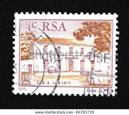 REPUBLIC OF SOUTH AFRICA - CIRCA 1975: A stamp printed in Republic of South Africa shows Construction, circa 1975