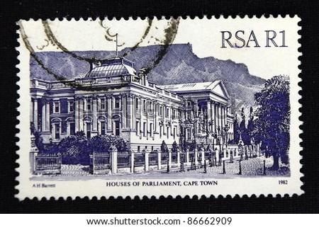 REPUBLIC OF SOUTH AFRICA - CIRCA 1982: A stamp printed in Republic of South Africa shows Castle, circa 1982