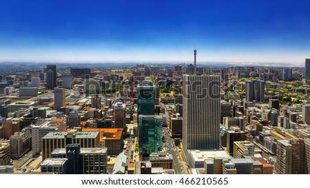 Republic of South Africa. Johannesburg, Gauteng Province. Cityscape