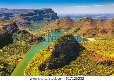 Republic of South Africa - Mpumalanga province. Blyde River Canyon (the largest green canyon in the world, fragment of the Panorama Route) #517125232
