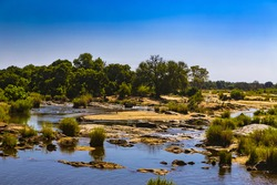 Republic of South Africa - Mpumalanga province. Kruger National Park, the Sabie River