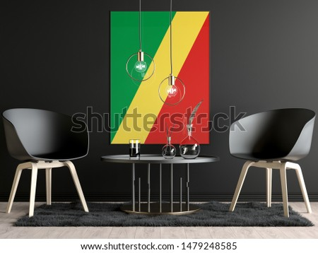 Republic of the Congo Flag in Room, Republic of the Congo Flag in Photo Frame #1479248585