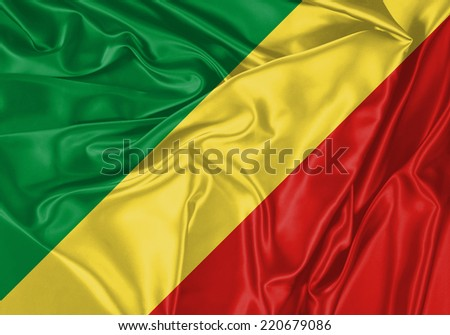 Republic of the Congo waving flag #220679086