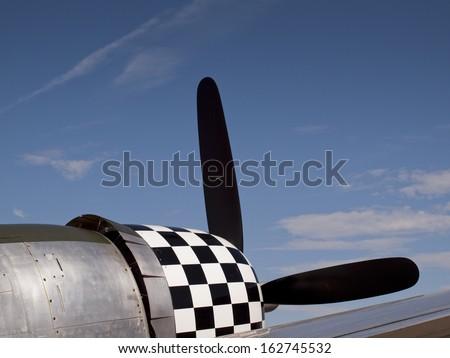 Republic P-47D Thunderbolt s/n 45-49385, N47DF (NX47DF), B-WZ, Pratt & Whitney R-2800 Double Wasp radial engine at the Rocky Mountain Airshow in Broomfield, Colorado. Zdjęcia stock ©