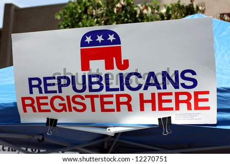 Republican Registration Booth