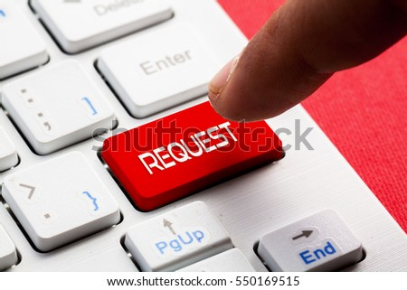 REQUEST word concept button on keyboard #550169515