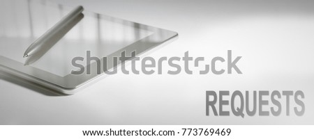 REQUESTS Business Concept Digital Technology. Graphic Concept. #773769469