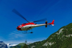 rescue helicopter for use in the mountains