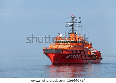 Rescue ship in the sea #156440924