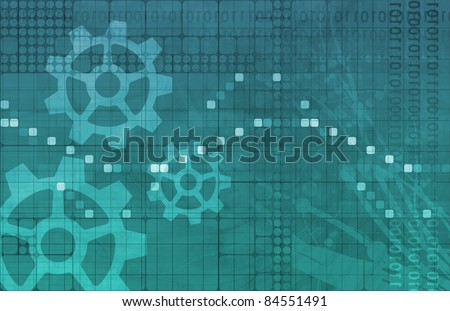 Research and Development of New Technology As Art - stock photo