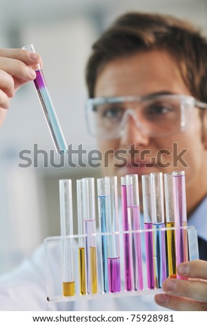 research and  science doctor student  people  in bright labaratory representing chemistry education and medicine concept