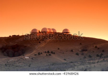 Research center on Mars - stock photo