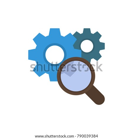 Research icon flat symbol. Isolated  illustration of search sign concept for your web site mobile app logo UI design.