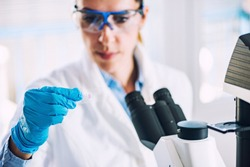 Research, woman working in the lab