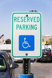 Reserved Parking or Handicapped Parking sign