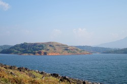 Reservoir of banasura sagar dam in wayanad, Kerala, India. It is the largest earth dam in India and second largest in asia.