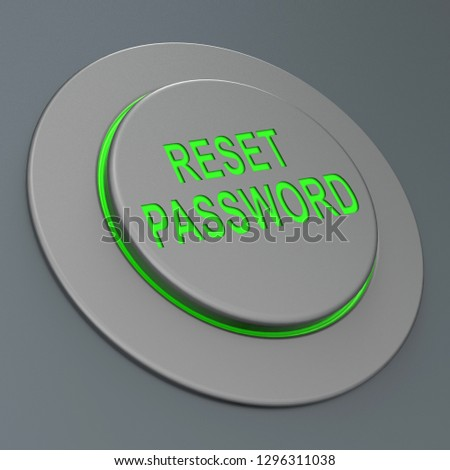 Reset Password Button To Redo Security Of PC. New Code For Securing Computer - 3d Illustration