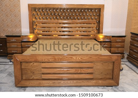 Resham Wood Exclusive Bedding set with Latest Design. Wooden Furniture. Bed and bedding set. Wedding Bed. Wedding bedding set. Latest Wedding Wooden Bed. Made with Resham wood.