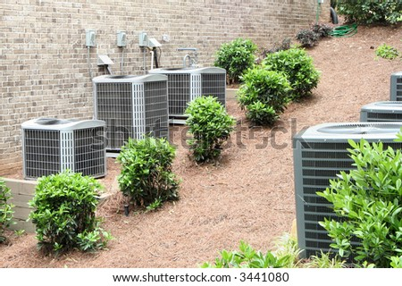Residential air conditioning units for a large home.  Environmental control.