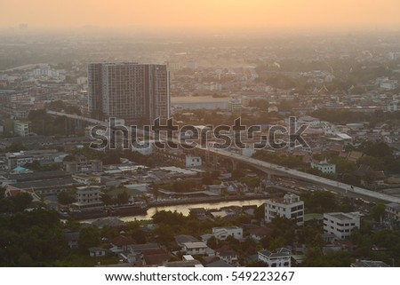residential area in bangkok with evening light #549223267