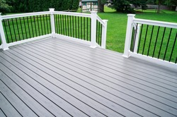 Residential Backyard Gray Composite Deck