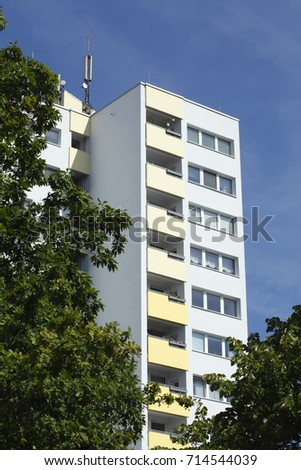 residential building, block of flat with balconies #714544039