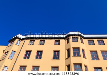 Residential building in the center of Stockholm, Sweden - stock photo