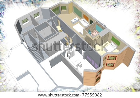 stock-photo-residential-building-two-level-apartments-d-sketchy-drawing-presentation-my-own-sketchy-77555062.jpg