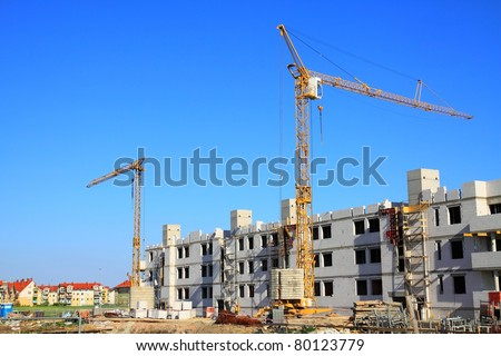 Residential buildings under construction.